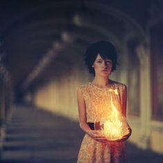 holding ball of light