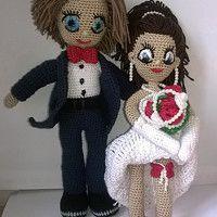 Hledání zboží: háčkovaná panenka / Zboží | Fler.cz Amigurumi Doll, Crochet Dolls, Teddy Bear, Toys, Brides, Angels, Doll Clothes, Tricot, Activity Toys
