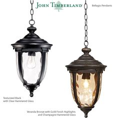 John Timberland Bellagio Carriage Style Outdoor Hanging Light Led Path Lights, Outdoor Hanging Lights, Outdoor Post Lights, Outdoor Wall Lighting, Outdoor Walls, Wall Lights, Landscape Lighting Kits, Glass Material, Clear Glass