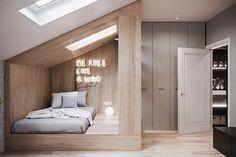 Townhouse on Behance Room Design Bedroom, Home Room Design, Bed Design, Design Case, Home Interior Design, Interior Architecture, Bedroom Decor, Small House Design, Dream Rooms