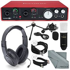Focusrite Scarlett 6i6 USB Audio Interface and Deluxe Acc...