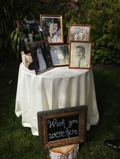 'In Memory of' table for passed family and friends to be added to gifts and card table