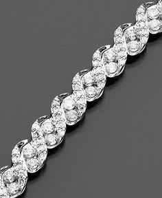 Diamond Bracelet, 14k White Gold Diamond (3 ct. t.w.)  Diamonds  Jewelry amp; Watches  Macys My #MacysFavorite Things  Jewelry - Daily Deals  diamond jewelry