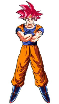 Goku (Super Saiyan God) by hirus4drawing.deviantart.com on @DeviantArt