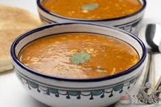 Harira, traditional Moroccan soup of excellence - Healthy-Cook-Book Dukan Diet Recipes, Halal Recipes, Asian Recipes, Gourmet Recipes, Soup Recipes, Vegetarian Recipes, Cooking Recipes, Ethnic Recipes, Moroccan Soup
