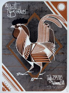 Four New Posters for The Avett Brothers by David Hale