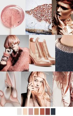 Tendencia ROSA / DORADO / Rose / Gold #color #coolhunting #trend via PATTERN CURATOR