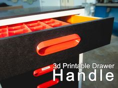 Drawer handle and router jig for assortment cart by chappel - Thingiverse 3d Printer Designs, 3d Printer Projects, Diy 3d Drucker, Cnc, Drawer Handles, Drawer Fronts, Router Jig, 3d Printing Diy, 3d Printed Objects