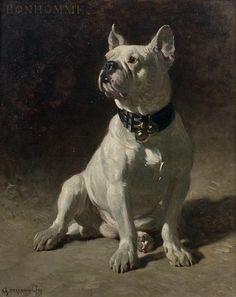 Charles Hermann-Leon, Portrait of Bonhomme the Bulldog, 19th century