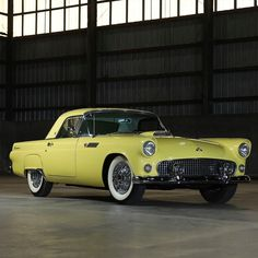 Every drive will outshine the last in this Goldenrod Yellow 1955 Ford Thunderbird convertible! Powered by a and driven by a manual transmission, this T-Bird is the definition of vintage beauty. Selling at our Online Only May 2020 Auction, May Lot: 126 1954 Ford Truck, Ford Trucks, 4x4 Trucks, Chevrolet Trucks, Diesel Trucks, Chevrolet Impala, Lifted Trucks, Classic Motors, Classic Cars