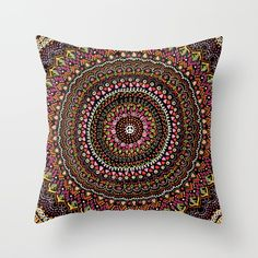 Mandala peace indian colors Throw Pillow by laurafrere Indian Colours, Colorful Pillows, Peace, Throw Pillows, Colors, Mandalas, Toss Pillows, Cushions, Decorative Pillows