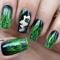 Nail Art Maleficent Nail Art