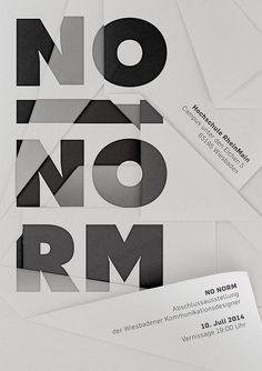 No Norm – Bachelorausstellung Hochschule Rhein Main | Slanted - Typo Weblog und Magazin