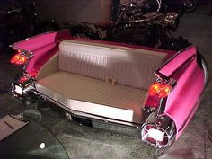 1959 Pink Cadillac couch