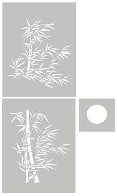 Bamboo Stencils Oversize Bamboo and Moon Stencil