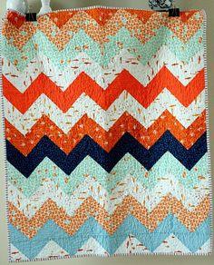 zigzag quilt - half square triangles