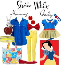 Mother Daughter Snow White. I don't have a daughter but this is still cute