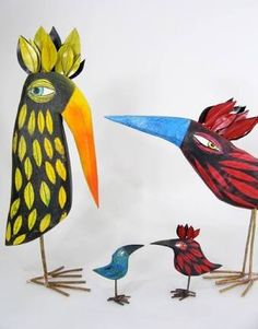 Image result for quirky birds sculpture