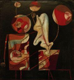 Bild: Paul Klee - Marionetten (Bunt auf Schwarz),