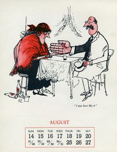 The Month Of August by Ronald Searle Ronald Searle Cultural Estate ltd http://www.ronaldsearleculturalestate.com/