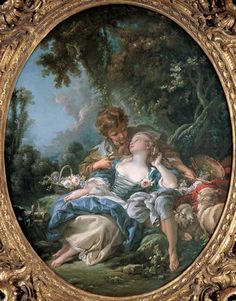 The artwork Lovers' tryst - François Boucher we deliver as art print on canvas, poster, plate or finest hand made paper. You define the size yourself. French Paintings, Old Paintings, Beautiful Paintings, Rococo Painting, Art Français, Inspiration Art, Victorian Art, Victorian Bedroom, Classical Art