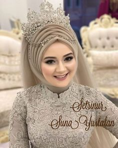 Setri Nur Meryemce💕💕No need to explain … You see ☺️ …. Setr-i Nur # hijab Muslimah Wedding Dress, Muslim Wedding Dresses, Muslim Brides, Bridal Dresses, Wedding Abaya, Muslim Girls, Dress Wedding, Muslim Fashion, Hijab Fashion