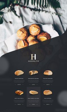Branding - French Bakery - UI & Print Design on Behance Food Graphic Design, Food Menu Design, Bakery Design, Print Design, Bakery Website, Restaurant Website Design, Food Website, Bakery Branding, Bakery Menu