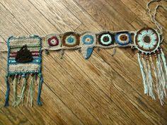 Earthy bohemian crocheted hip wrap utility belt by HorizonsEd3e, $83.00