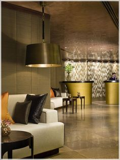 spa interior design concept - luxurious living ideas and design #KBHome lobby. ntry with two ...