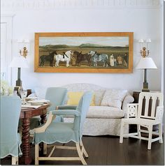 Blue scalloped slipcovers muted gray slipcover sofa