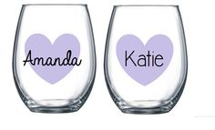 Bridesmaid Custom Stemless Wine Glass,Bridesmaid Gift,Maid of Honor,Bride to Be,Bridal Party,Bridesmaid,Wine Glass,Custom Glass,Personalized