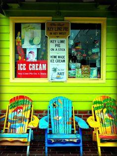 Key West Style- one of my favorite places; Eating ice cream! #MarriottCourtyardKeyWest #DreamKeyWestVacation