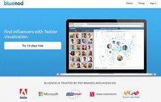 Bluenod. Identifier et suivre les influenceurs sur Twitter