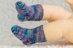 (6) Name: 'Knitting : Newborn Baby Socks