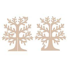 MDF Jewellery Tree - Woodland < Shop | Cuddly Buddly Crafts