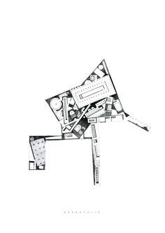 Drawing ARCHITECTURE            Arakelyan Ruben, N.E.K.R.O.P.O.L.I.S., pencil, 42x...