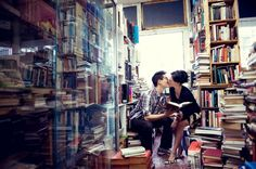 love this bookish engagement photo by Nouvelle Photography | http://vancitybride.com