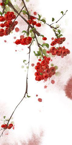 fansuo.lofter.art Chinese Drawings, Art Drawings, Watercolor Flowers, Watercolor Paintings, Chinese Background, China Art, Chinese Painting, Japanese Art, Wallpaper Backgrounds