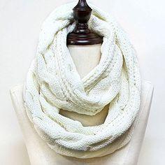 Cozy by Lulu - Fisherman's Knit Scarf in Cream Cozy by LuLu http://www.amazon.com/dp/B00NFVPA9M/ref=cm_sw_r_pi_dp_EjYpub1MNM834
