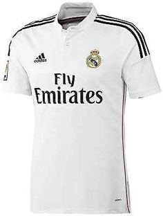 ADIDAS REAL MADRID HOME JERSEY 2014/15 LA LIGA SPAIN.