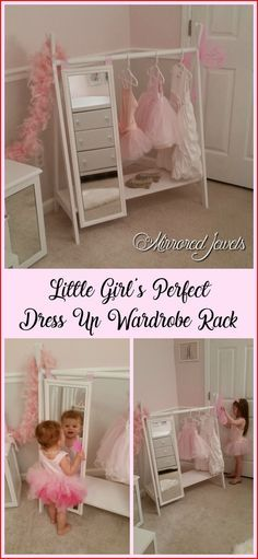 Bellalu Room Ideas 💟 Kids dress up wardrobe rack perfect for your little girl's precious princess collection! Kids play clothes clothing rack with full length mirror. Excellent Christmas gift for little girls! Teenage Girl Bedrooms, Little Girl Rooms, Girls Bedroom, Little Girls Room Decorating Ideas Toddler, Kids Bedroom Ideas For Girls Toddler, Little Girl Dress Up, Girls Dress Up, Kids Diy, Toddler Girl Gifts