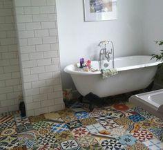 Encaustic Tiles Patchwork Bathroom