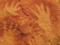 Prehistoric art in Altamira Spain - airbrush tools - Santillana del mar - Spain