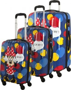 Oh my! Minne is so cute! Disney Travel Koffer Suitcase Luggage Kofferset Reisen