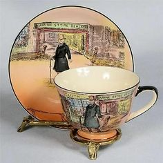 ROYAL DOULTON DICKENS WARE TEACUP & SAUCER - MR.MICAWBER