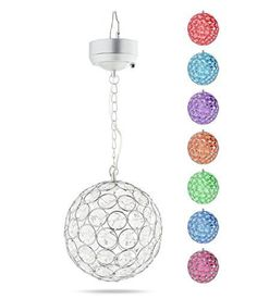 Outdoor Hanging Decorative Sparkling Crystals Gazing Ball with Solar Powered Color Changing LED Light EShing http://www.amazon.ca/dp/B018AJQB3W/ref=cm_sw_r_pi_dp_-pfzwb0GMYCFG