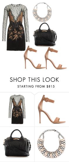 """""""Untitled #3474"""" by loveparis7 ❤ liked on Polyvore featuring Alexander Wang, Gianvito Rossi and Siena Jewelry"""