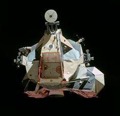 Challenger, with CDR Cernan visible through the port window