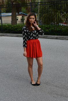 fed10bb788f RASPBERRY JAM  OUTFITS Red Skater Skirt