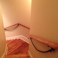 Put ropes under stair railings for young children to hold onto if they can't reach the railing! Stair Railing, Railings, Under Stairs, Baby Safety, Kidsroom, Toilet Paper, Clothes Hanger, Young Children, Ropes
